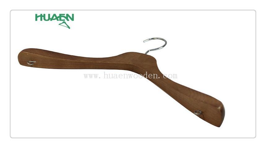 """15 3/8"""" fashion korean clothes hanger luxury wooden hanger-11C038  3"""