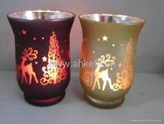 玻璃蜡烛风灯KF-002
