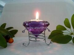 水晶蜡烛台