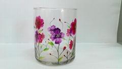 裂纹玻璃彩绘蜡烛杯