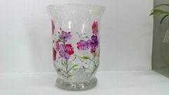 裂纹玻璃蜡烛杯
