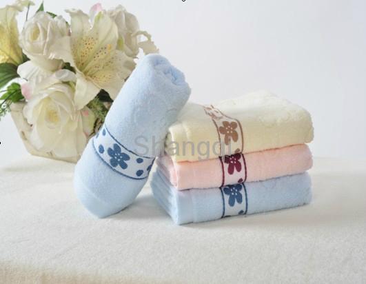 花边纯棉超吸水柔软毛巾 (HY-17-5) 1