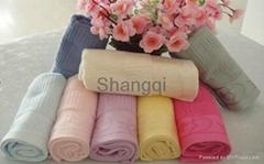 时尚清新大方竹纤维方巾毛巾浴巾(HY-21)