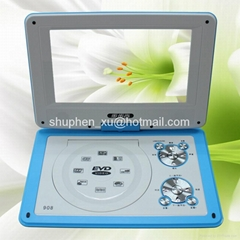 Portable dvd player 9 inch with av in and out