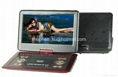 15 inch portable multimedia player with tv tuner and games
