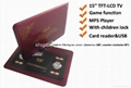 15 inch portable multimedia player with tv tuner and games 2