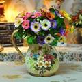 欧式高温陶瓷浅黄色花瓶摆件 2