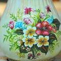 欧式高温陶瓷浅黄色花瓶摆件 3