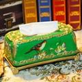 歐式宮廷古典手繪高溫陶瓷紙巾盒 3