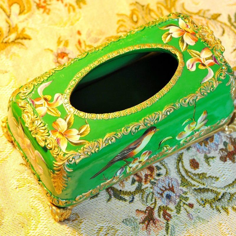 歐式宮廷古典手繪高溫陶瓷紙巾盒 4
