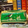 歐式宮廷古典手繪高溫陶瓷紙巾盒 5