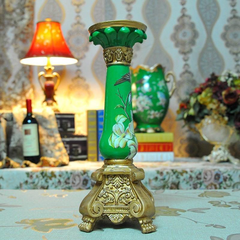 高溫陶瓷歐式宮廷古典燭台擺件 4