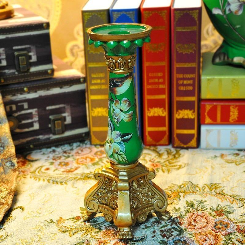 高溫陶瓷歐式宮廷古典燭台擺件 5
