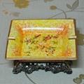 法式手绘花卉高温陶瓷烟灰缸