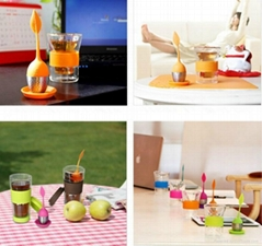 silicone tea bag with steel infuser tea filter manufactuer
