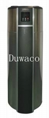 DUWACO air source heat pump water heater with RV and solar panel