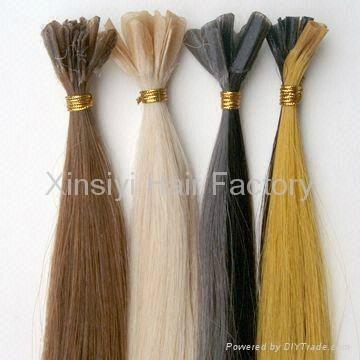 Nail Hair Extensions 100Human hair&Brazilian Remy Hair 3