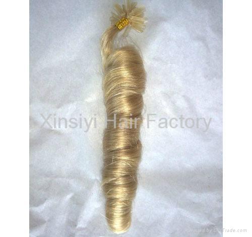 Nail Hair Extensions 100Human hair&Brazilian Remy Hair 5