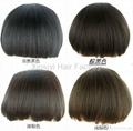 Human Hair Fringe Clips in hair