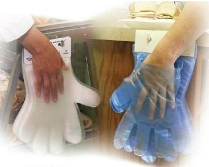 Disposable Textured Cast Poly (CPE) gloves  1