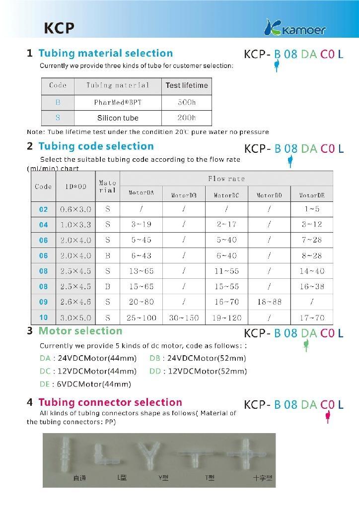 Kamoer 6V Adjustable Flow Rate Peristaltic Pump 3