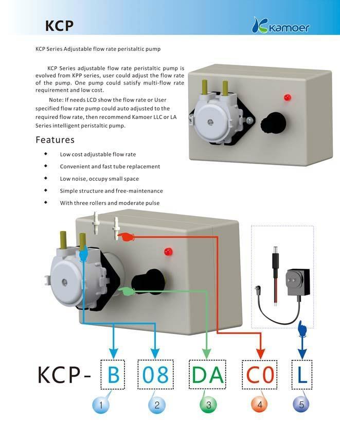 Kamoer 12V Adjustable Flow Rate Peristaltic Pump 2