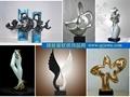 不锈钢金属抽象雕塑 1