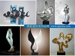 不锈钢金属抽象雕塑