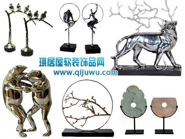 不锈钢金属抽象雕塑 5