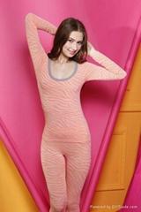 Ladies seamless thermal underwear