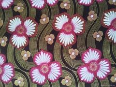 flower reactive printed fabric golden sands silver sands