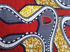 Good Quality 100% Cotton Flower Reactive Printed Fabric Imitation Wax