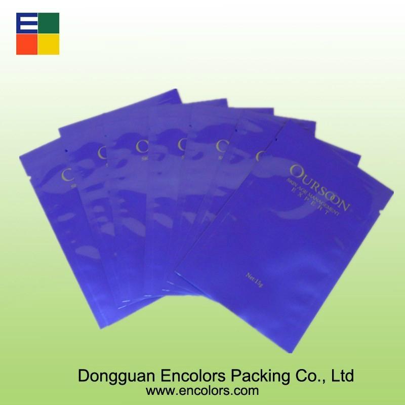 三邊封鋁箔面膜包裝袋 3