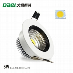 "Daei Brand 2.5"" LED downlight 5W ceiling spotlight COB LED THS-COB001A-5W"