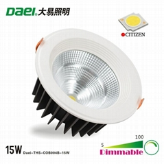 Dimmable LED down light 15W