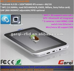 "Low cost 7"" 3g gps wifi tablet pc NFC RFID reader"