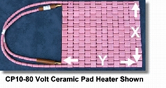FLEXIBLE CERAMIC PAD (HEATER) 65/85 VOLTS