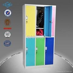 office furniture 6 door metal gym locker