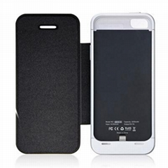 QYG 2000mAh battery case with flip cover for iPhone5s