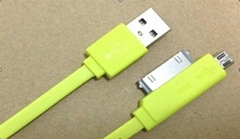 Micro and Iphone 4 cable with data and charge