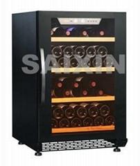 54 bottle single zone glass door Compressor Wine Cellar