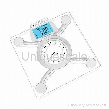 Wireless Bluetooth Body Fat Scale for iOS with 8mm Tempered Safety Glass Platfor 2