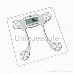 Electronic Bathroom Scale with Classical Design and Step-on