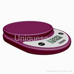 CK771 Digital Kitchen Scale Made of Stylish Si  er Chrome Mater