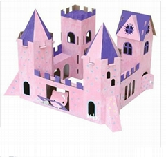 Paper house for kids to play