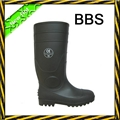 Black PVC safety rain boots 1