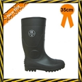 Black PVC safety rain boots 2