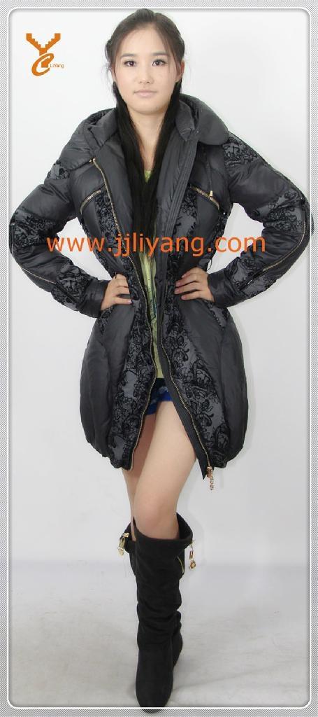 2013 New Style Women Black Outdoor Down Jacket 1
