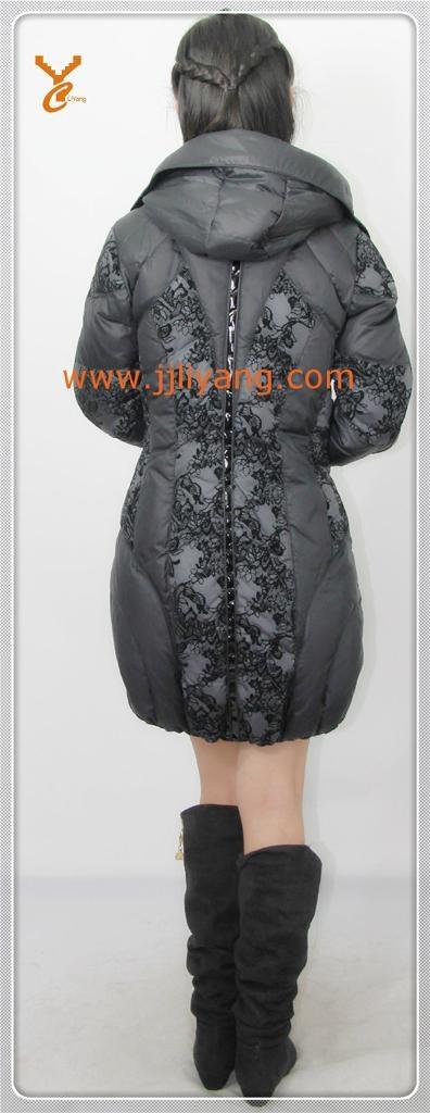 2013 New Style Women Black Outdoor Down Jacket 2
