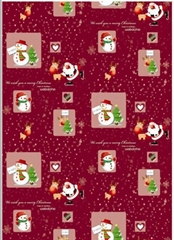 Printed Rolling Christmas Wrapping Paper